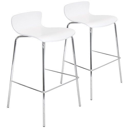 Wood Stacker Barstool - Set Of 2