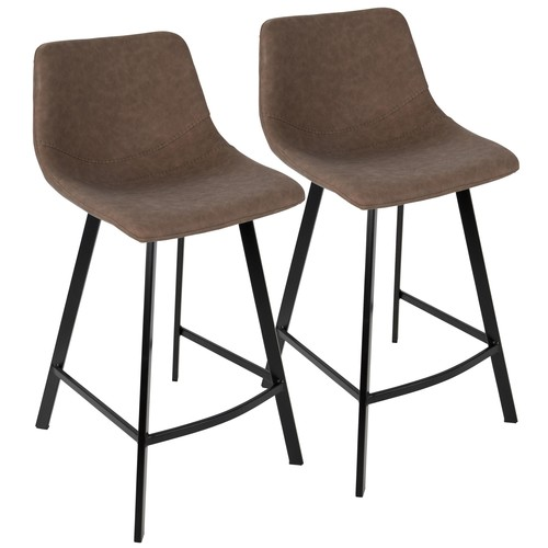 Outlaw Counter Stool (Brown) - Set Of 2