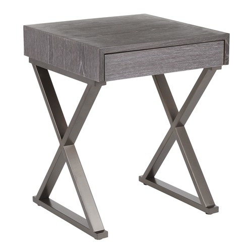 Industrial Luster End Table