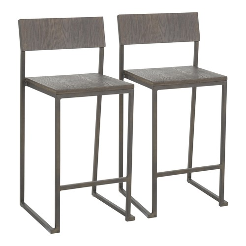 Industrial Fuji Counter Stool - Set Of 2