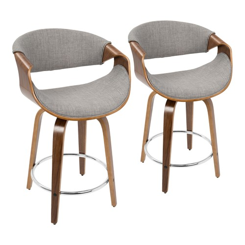 Curvini 24'' Counter Stool - Set Of 2