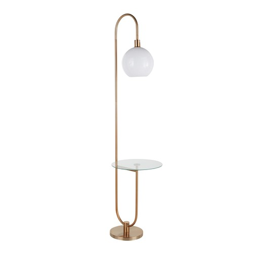 Trombone Floor Lamp With Table