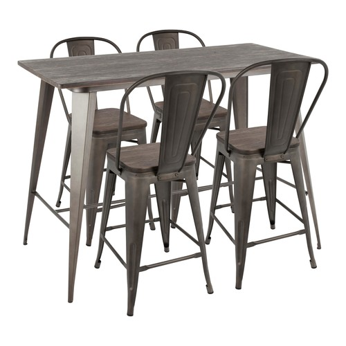 Oregon High Back Counter Set