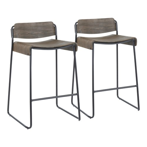 Dali Low Back Counter Stool - Set Of 2