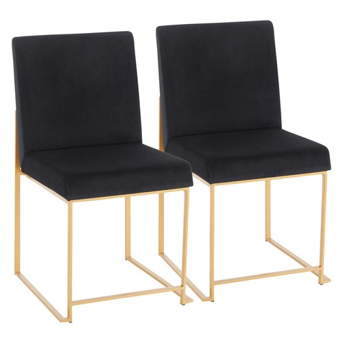 High Back Fuji Dining Chair - Set Of 2