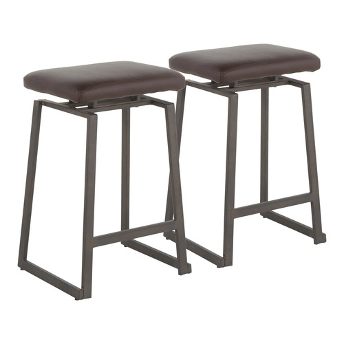 Geo Upholstered Counter Stool - Set Of 2
