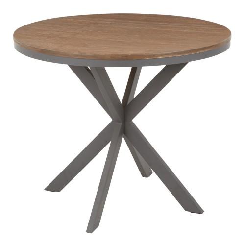 X Pedestal Dinette Table (Grey + Brown)