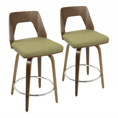 "Trilogy 24"" Counter Stool (Green) - Set of 2"