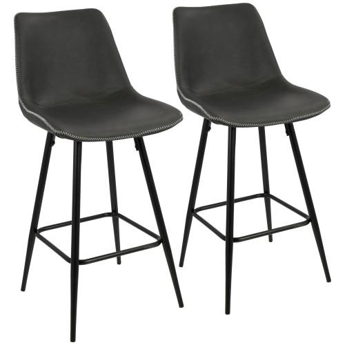 Durango Counter Stool (Grey) - Set of 2