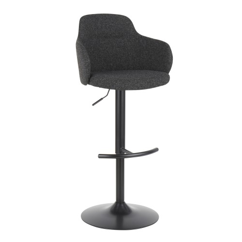 Upholstered Boyne Bar Stool (Dark Grey)