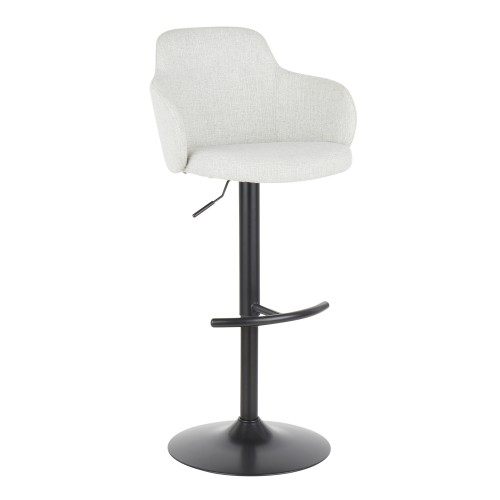 Upholstered Boyne Bar Stool (Light Grey)