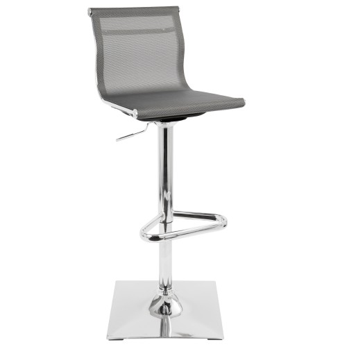 Mirage Bar Stool (Silver)