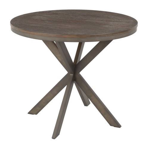 X Pedestal Dinette Table