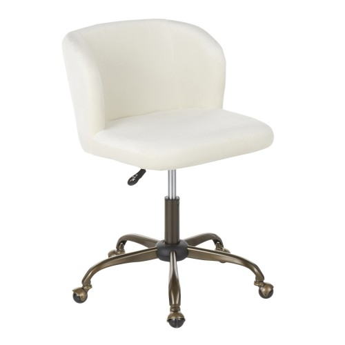 Fran Task Chair (Cream Velvet + Antique)